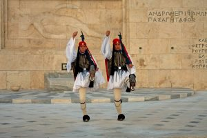 Change of the guards in Syntagma Square in Athens