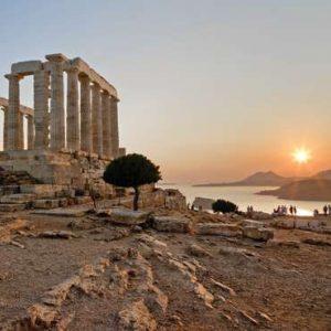 temple of poseidon in sounion greece