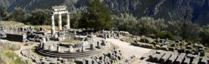 the archaeological site of delphi in greece