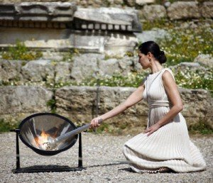 The Olympic Flame in Olympia