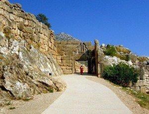 lions' gate in mycenae