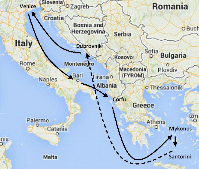 Italy Greece and Croatia 8 day cruise
