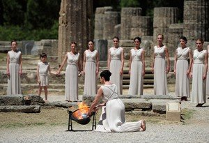 Ancient Olympia, The Olympic flame begins