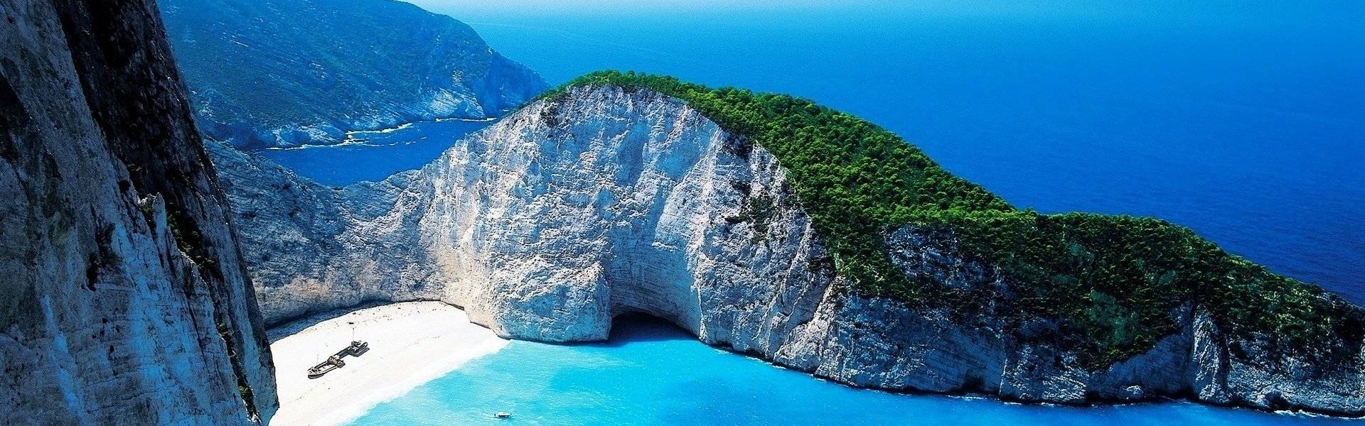 The Navagio in Zakynthos, Greece